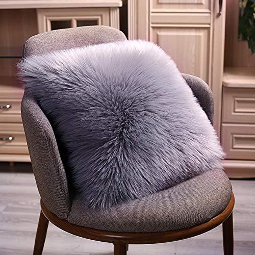 Prokth fodera per cuscino federa quadrata in lana imitazione fodera per cuscino lato singolo (senza cuscino) 45×45cm