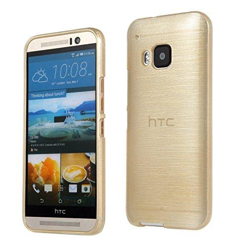 Silverback 8044 Metallic Look TPU Silikon Schutzhülle für HTC One M9 gold