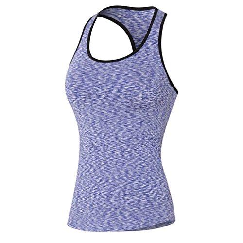 Soojun - T-shirt de sport - Sans Manche - Femme Violet