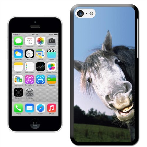 Fancy a snuggle Coque arrière rigide clipsable pour Apple iPhone Motif tête de cheval, plastique, Grey Horses Face, iPhone 5/5s