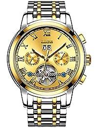 LIGE 9813 - Reloj analógico automático para Hombre con Correa de Acero Inoxidable