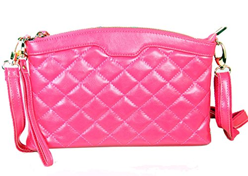 Clutch In Pelle Trapuntato Ms. RoseRed