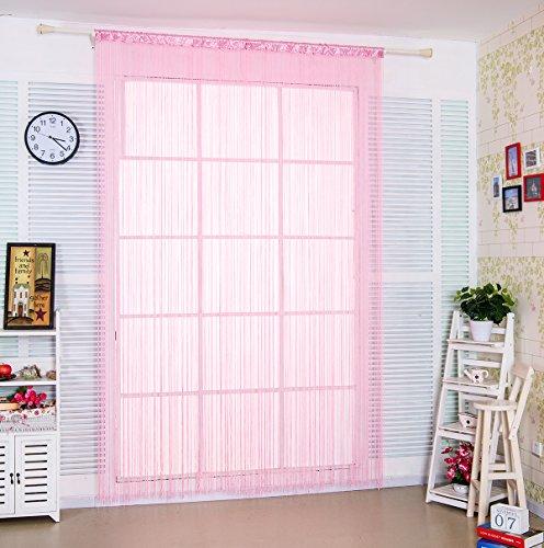 """Preisvergleich Produktbild taiyuhomes Classic Spaghetti String Vorhang Panel für Home Decor und Trennwand mit Ornament Streifen Quaste Design, rose, W90xL200cm(35x79"""")"""