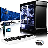 VIBOX Luminos GXR770-320 Pack PC Gamer - 4,0GHz CPU 10-Core i7, GTX 1070 GPU, Blanc Carte Graphique, Ordinateur PC de Bureau Gaming avec Watercooling paquet de jeux, avec Écran, Windows 10, Éclairage Interne Blanc (3,0GHz (4,0GHz Turbo) Processeur CPU 10 Core Intel Core i7 6950X Broadwell Extreme, Carte Graphique Haute Performance Nvidia GeForce KFA2 HOF GTX 1070 8 Go, 64 Go Mémoire RAM DDR4 3000MHz, SSD 960 Go, Refroidissement Liquide Alphacool Eisbaer, PSU SuperFlower 750W, Boîtier Phanteks)