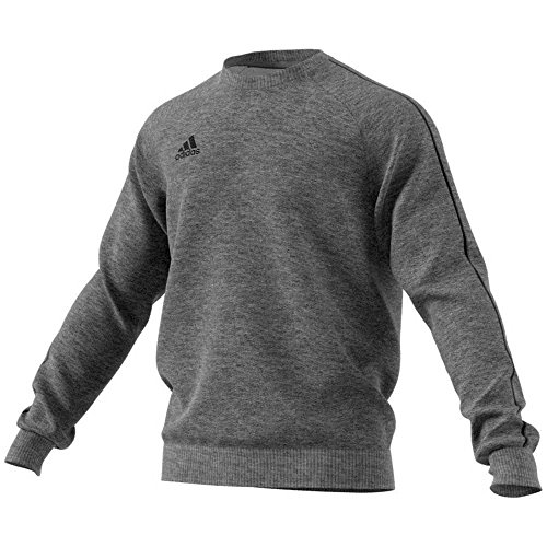 adidas Herren CORE18 SW TOP Sweatshirt, Dark Grey Heather/Black, M