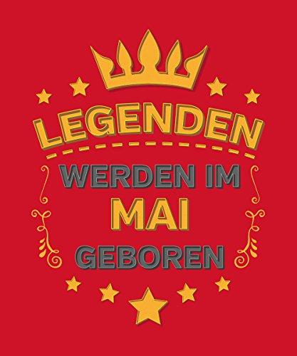 -- Legenden werden im Mai geboren -- Boys Kapuzenpullover Rot