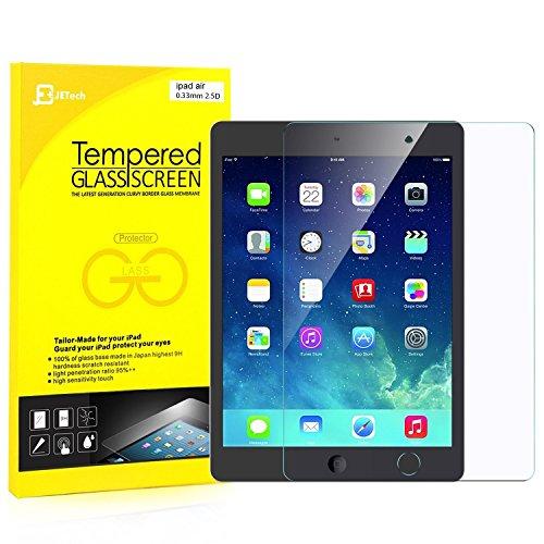 JETech iPad Air 1/2, iPad Pro 9.7, Das neue iPad 9.7 (2017) Gehärtetem Glas Panzersglas Premium Folien Schutzfolie Displayschutz Screen Protector Test