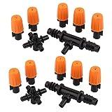 2 Set Spruzzatore Kit Ugelli Sprinkler Per Appannamento Irrigazione Irrigazione