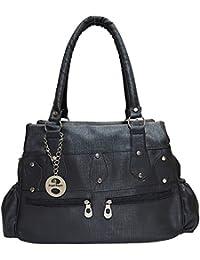 Angel & Rayon Lisa Fancy Stylish Handbag For Women, Ladies And Girls (Black)