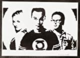 Poster The Big Bang Theory Sheldon Penny E Leonard Handmade Graffiti Street Art - Artwork