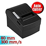 Floureon Stampante Termica 300 mm/sec 80mm Auto-Cut ESC/POS Thermal Printer Serial Port, USB, Ethernet