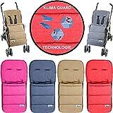 Fußsack / Sommerfußsack (Mit KLIMA GUARD - TECHNOLOGIE) für Kinderwagen / Buggy / Jogger Kinder (DUNKELGRAU)
