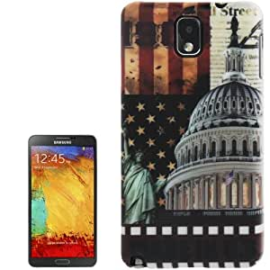Color Print White House Pattern Plastic Case for Samsung Galaxy Note 3 N9000