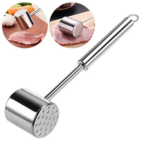 Homemaxs Fleischklopfer Doppelseitig Fleischklopfer-Tool 304 Edelstahl Spülmaschinenfest
