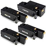 Aoioi kompatibel Tonerkartusche Ersatz für Dell C1660, C1660W, C1660DW, C1660CN, C1660CNW - 4er-Pack
