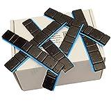 50 bar svarta hjulvikter 5 g x 4+10 g x 4 självhäftande vikter 3 kg självhäftande stänger