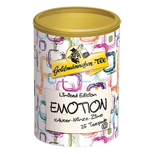 Goldmännchen Tee PUROMA Emotion / Kräuter Minze Zimt, Kräutertee, Teebeutel, Tee Pads, 25 Puroma-Beutel, 9222