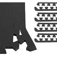 GORILLA SPORTS® 8 Schutzmatten-Endstücke Schaumstoff - 5 Farbvarianten mit 60 cm-Länge + 1,2 cm-Dicke