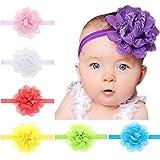 Dedila 13pcs Hot Children Kids Baby Girls Chiffon Lace Flowers Headband Hair Accessories
