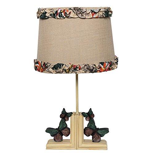 Zeitgenössisches Gewebe-abdeckung (Schlafzimmer-Karikatur-Schmetterlings-Spitze-Gewebe-Abdeckungs-Tabellen-Lampen-Harz-Unterseiten-Schreibtischlicht)