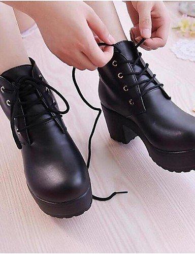 ShangYi Mode Frauen Schuhe Damen Stiefel Frühjahr / Sommer / Herbst / Winter Combat Boots PU-freien Ferse Andere Weiß