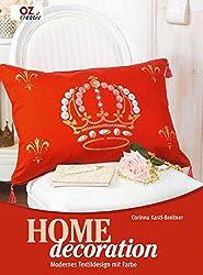 Homedecoration. Modernes Textildesign mit Farbe