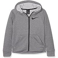 Nike B NK Dry FZ FLC Sudadera, Niños, Gris / (Carbon Heather/Black), S