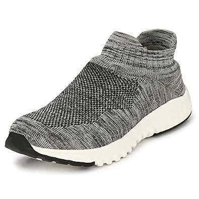 WOODBAY Mens Grey AIRMIX Running Shoes (6, Grey)