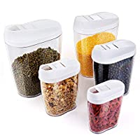 Specification:   Materiale: plastica per uso alimentare  Colore: trasparente  Dimensioni: 20,5 x 7 x 11,6 cm;  18,5 x 6,5 x 10,3 cm;  16,5 x 5,5 x 9,5 cm;  14,4 x 5 x 8,2 cm;  12 x 4 x 7,5 cm  Capacità: 1440 ml, 960 ml, 720 ml, 480 ml, 300 m...