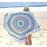 Turno Tapestry Mandala, Cerchio Beach Tapestry nappe Telo parete appeso Hippie di Boho Gypsy Tovaglia in cotone Telo da mare, Yoga Mat rotonda, Tovaglia Hippy Hippy Boho Gypsy Telo
