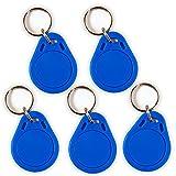 5 NFC Tag Schlüsselanhänger NTAG215 | 504 Byte | blau