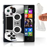 Stuff4 Gel TPU Hülle / Case für Nokia X2 Dual Sim / Weiß Muster / Playstation PS4 Kollektion