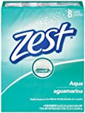 Zest 8-Bar Bath Size Soap, Aqua, 120ml