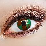 aricona Farblinsen Farbige Kontaktlinse Military Effect   – Deckende Jahreslinsen für dunkle und helle Augenfarben ohne Stärke, Farblinsen für Karneval, Fasching, Motto-Partys und Halloween Kostüme