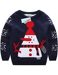 ELSA & ANNA® Calidad Tejido Unisex Niños Chicos Niñas Puente de Navidad Suéter de Navidad Xmas Saltador Christmas Jumper ES-BLUJUM02
