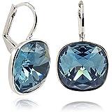 Ohrringe mit Kristallen von Swarovski® - Blau - Etui - Made in Germany