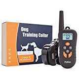 PetInn Wasserdicht Hunde Erziehungshalsband,Trainingshalsband bis 400M mit Doppelt Vibration und Ton