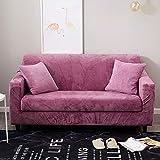 VGUYFUYH Slipcover Einfaches Sofa Komplettpaket 123 Kombination Ledersofa, C Velvet Sofa Set - Lilac Gl, Anwendung Von Vier Personen 235-300Cm