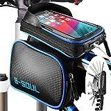 Temork Fahrradtasche Rahmentasche, Mountainbike Oberrohrtasche für 6.2Zoll Handy