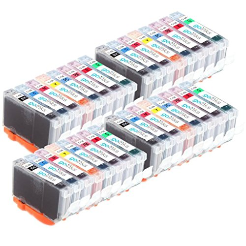 4 Go Inks Satz von 8 Tintenpatronen zum Austausch von Canon CLI-8 Kompatibel / Nicht-OEM zur verwendung mit PIXMA Drucker (32 Tinten) (Cli-8 Farbe)