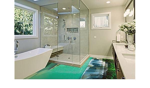 Fußboden 3d Gratis ~ Ruvitex d belag dekor boden badezimmer vinyl pvc teppich