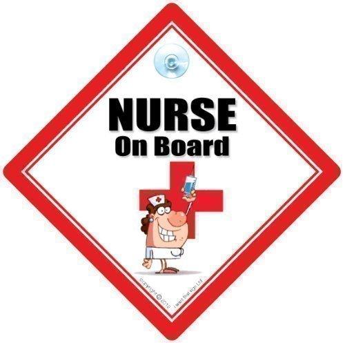 infirmière à bord, infirmière ON BOARD autocollant voiture, infirmière SIGNE, allaitement SIGNE, SIGNE Bébéà bord, bébéà bord, infirmière Panneau de voiture, RGN , allaitement SIGNE, médical SIGNE