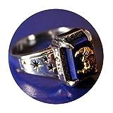 Personalisierte Mit Gravur S925 Herren Ring Silber 925 Mond Sterne Mit Opal Freundschaftsring Gothic Ring Silber Größe 57 (18.1)