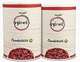 myfruits Cranberries - getrocknet, mit Ananassaft, ohne zusätzlichen Zucker. Perfekt für Müsli, Joghurt oder Salate. Abgefüllt in Deutschland - Kurze Lagerung für mehr frische (2x425g)