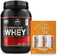 Fast&Up Charge - Vitamin C - 60 Effervescent Tablets - Orange Flavour & Optimum Nutrition Gold Standar