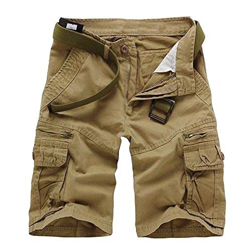 Herren Bermuda Shorts Jogg Jeans Shorts kurze Hose Bermuda Sweathose Blau H-108