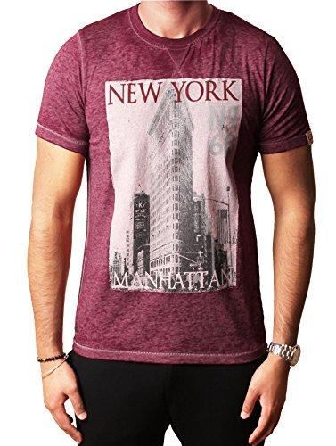 Mens Tokyo lavanderia grafica foto assortiti T-shirt stampate Esaurito DANBURY PARK Oxblood