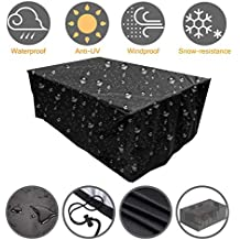 Tmeye Fundas Muebles Jardin Exterior, 210D Oxford Impermeable Anti-UV Patio Protectores (242