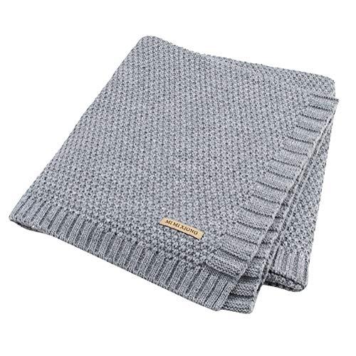Tomwell Bebé Blanket Manta Saco de Dormir Unisex para Bebés Recién Nacidos Manta para Bebé Carrito Gris 100X80 CM
