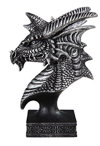 stealstreet ss-g-71614grau Intrigen Dragon Head und Büste Statue Figur, schwarz